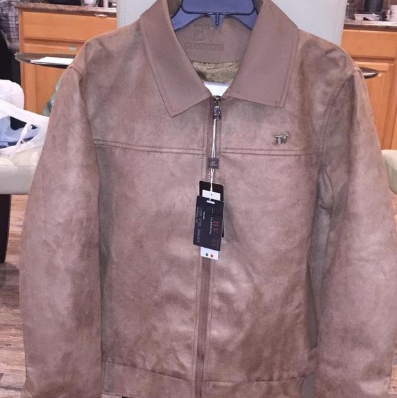 afd370b52 Bv clothing men's leather jacket